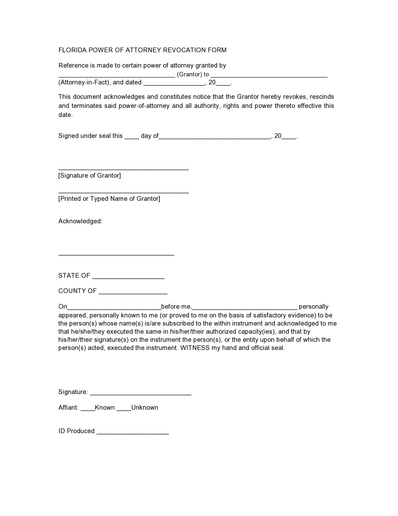 30 Free Power Of Attorney Revocation Forms Word PDF