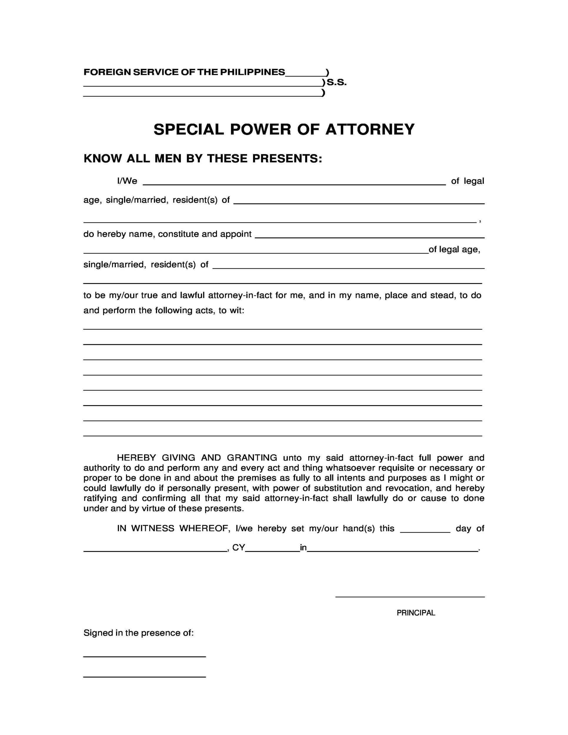 50 Free Power Of Attorney Forms Templates Durable