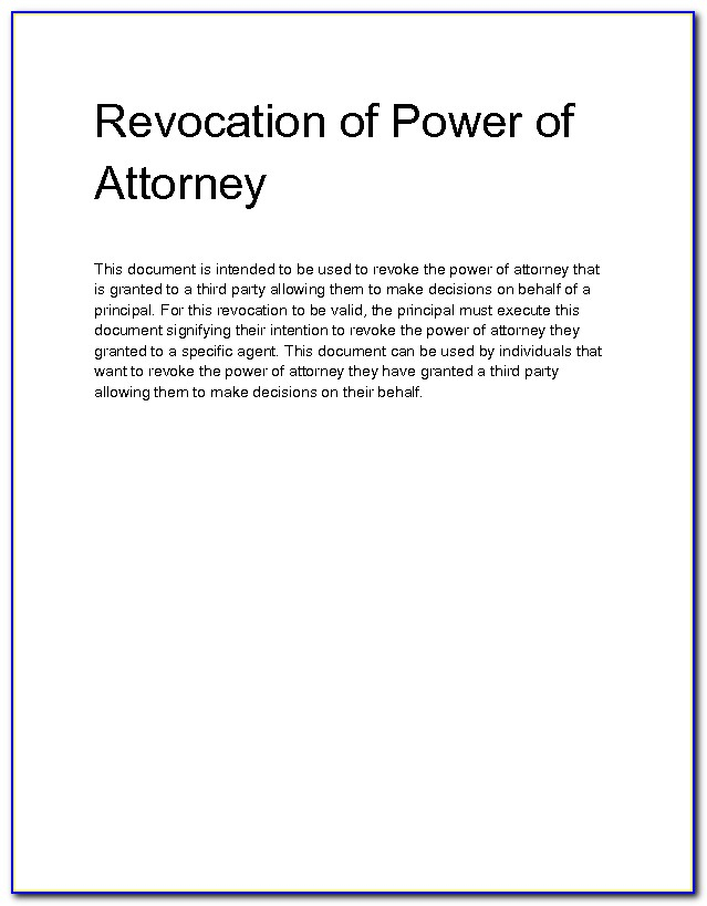 8 Solid Evidences Attending Relinquish Power Of Attorney