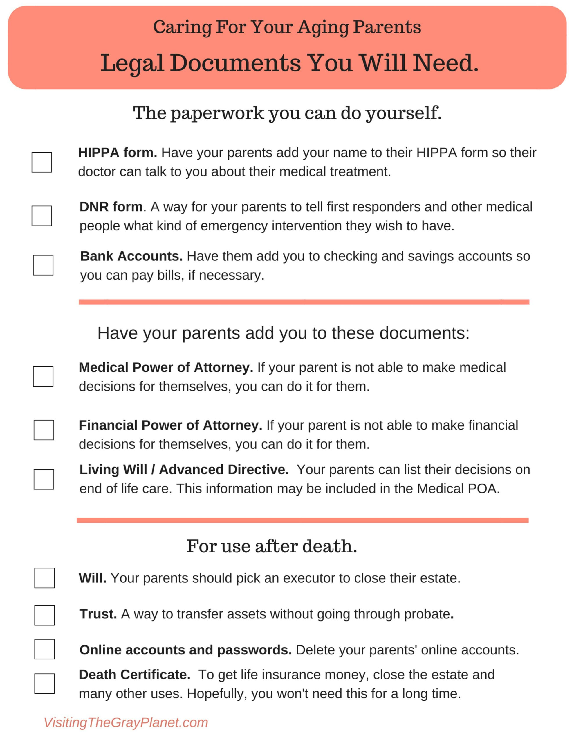 A Will 9 Legal Documents To Get Right Now Aging
