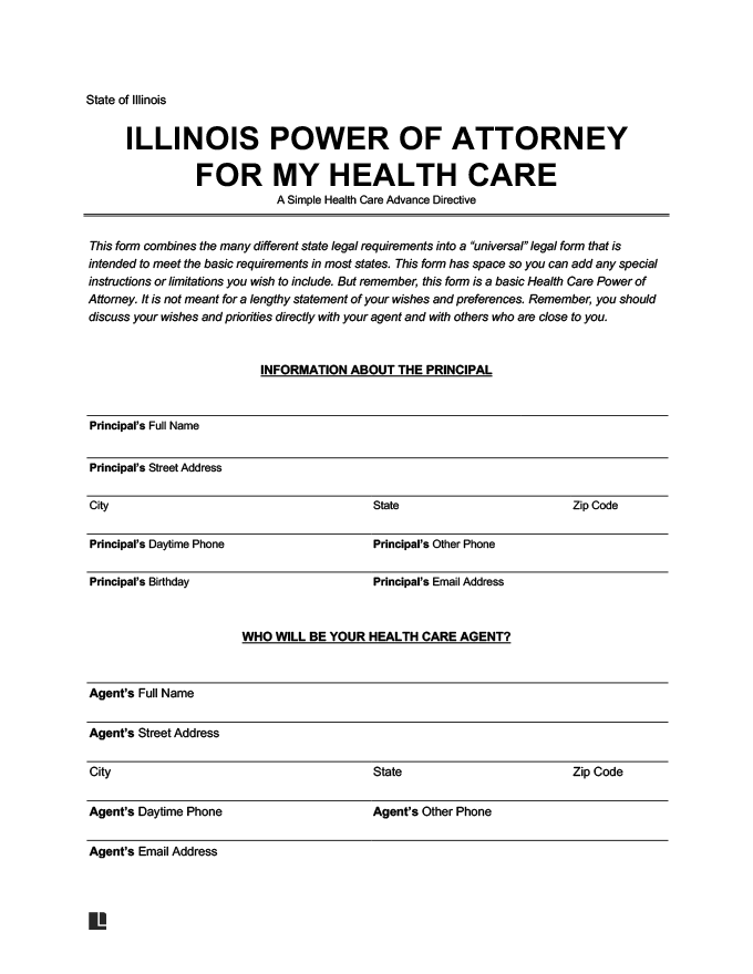 Create An Illinois Power Of Attorney For Health Care
