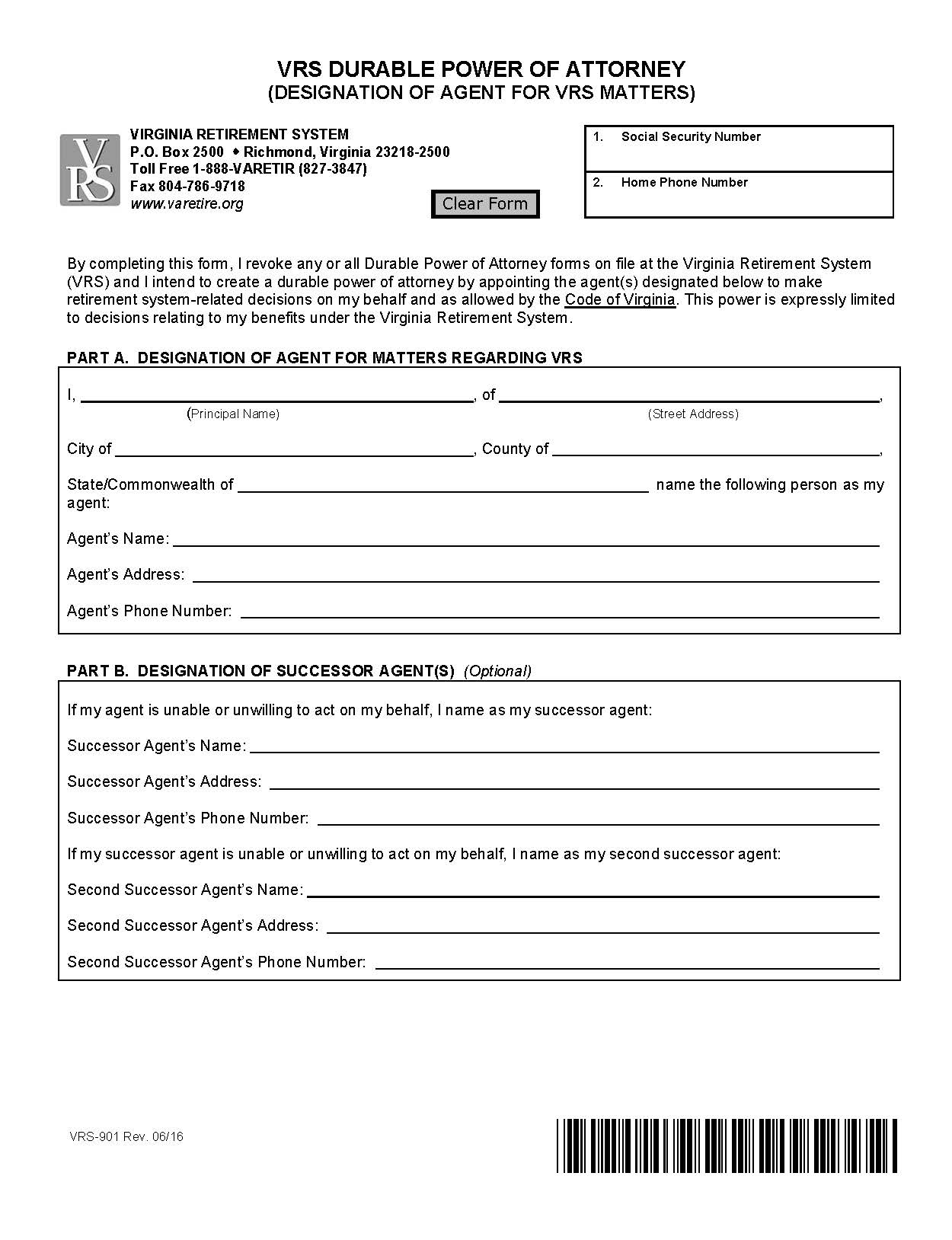 Durable Power Of Attorney Form PDF Format E database