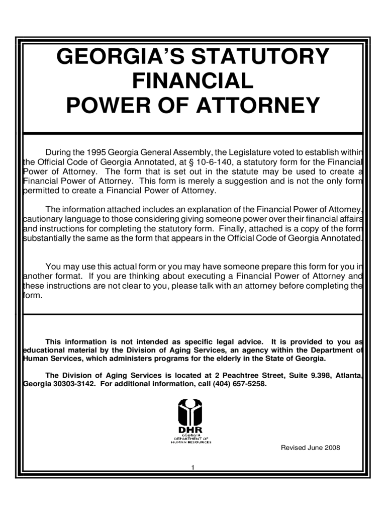 Financial Power Of Attorney Form 27 Free Templates In