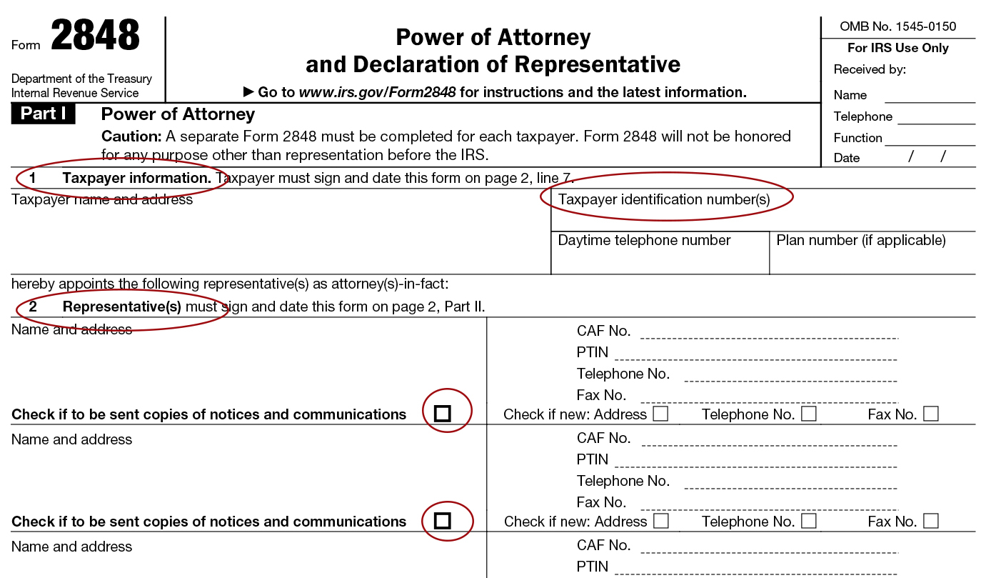 Form 2848 Instructions For IRS Power Of Attorney