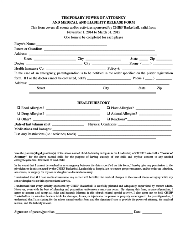 FREE 20 Sample Power Of Attorney Forms In PDF MS Word