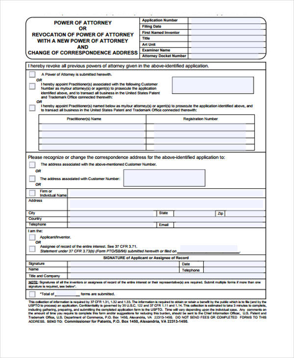 FREE 24 Power Of Attorney Forms In PDF MS Word