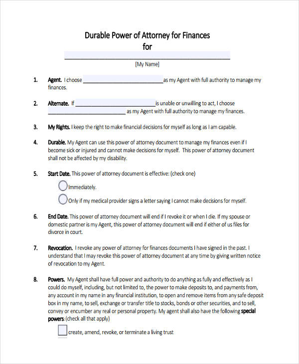 FREE 24 Printable Power Of Attorney Forms In PDF MS Word