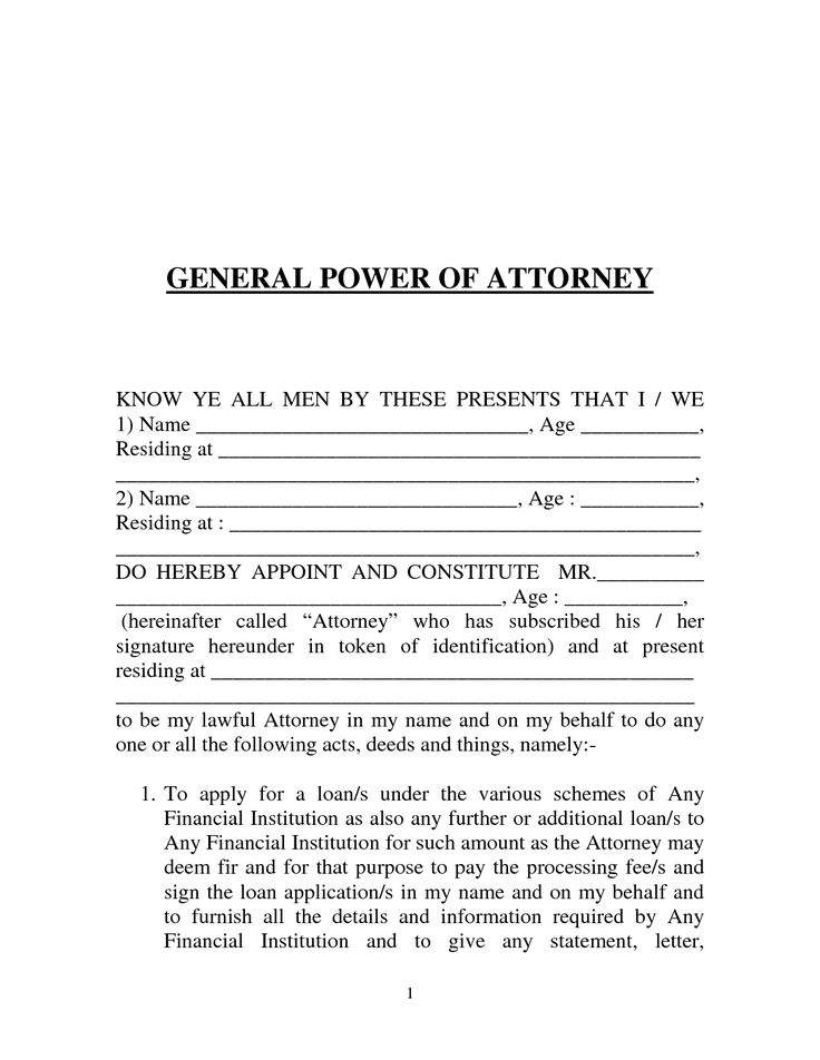Letter Of Attorney Free Printable Documents Power Of