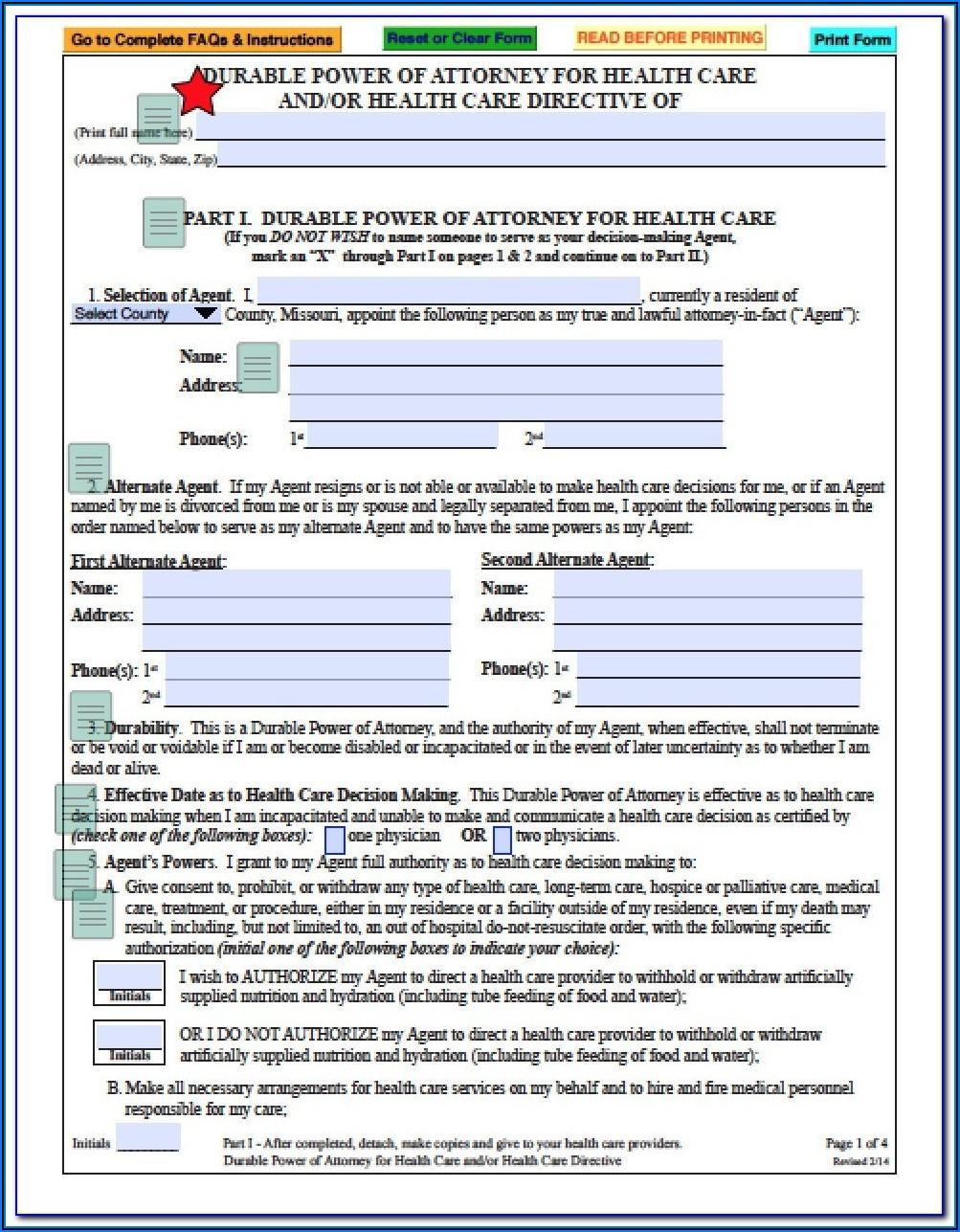 Missouri Power Of Attorney Form 5086 Form Resume