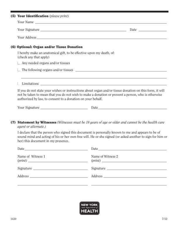 New York Medical Power Of Attorney Form LegalForms